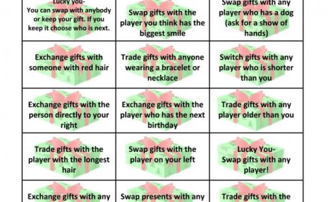 Free Gift Exchange Game Printable This Crazy Adventure