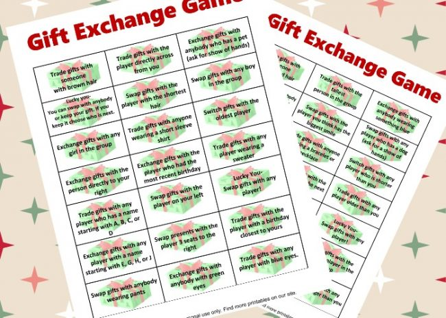 free gift exchange game