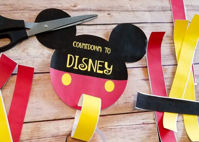 Free printable countdown to Disney