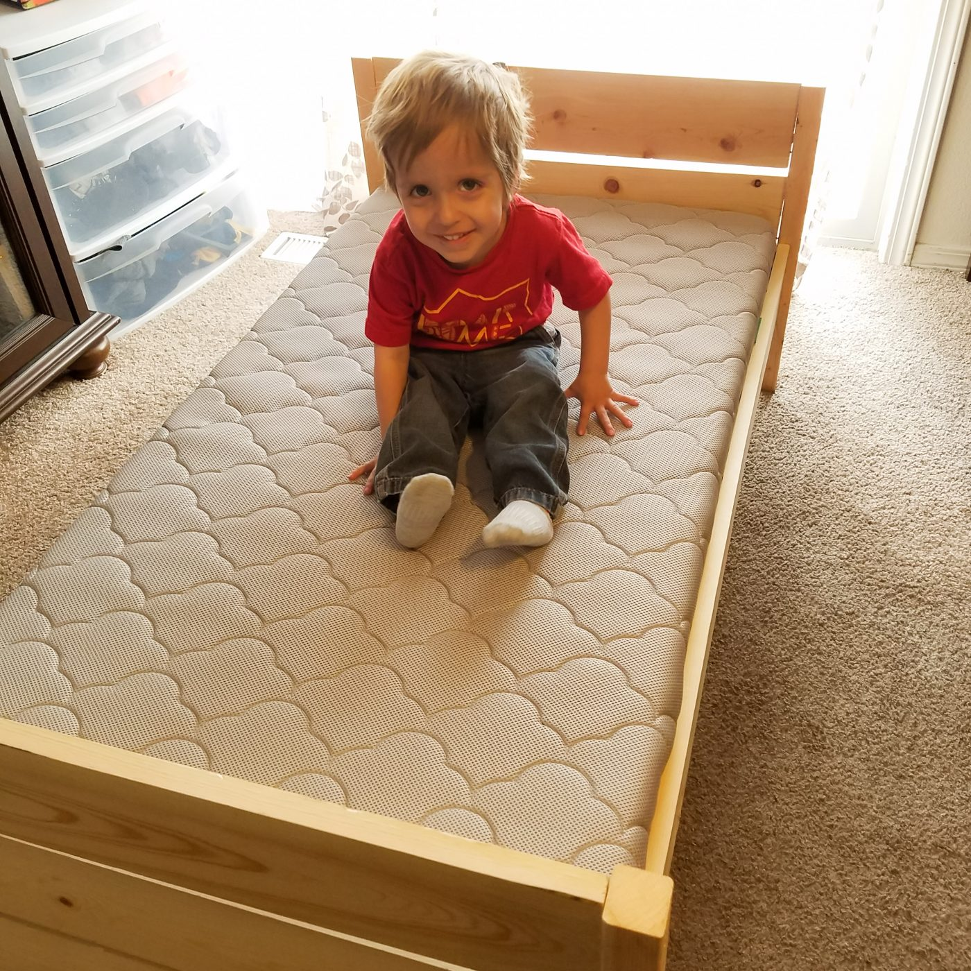 Colorful Night Diy Toddler Floor Bed Plans Montessori Floor Bed With Rails Toddler Floor Bed Diy Toddler Bed Kid Beds This Base Will Help Elevate Your Mattress From The Floor