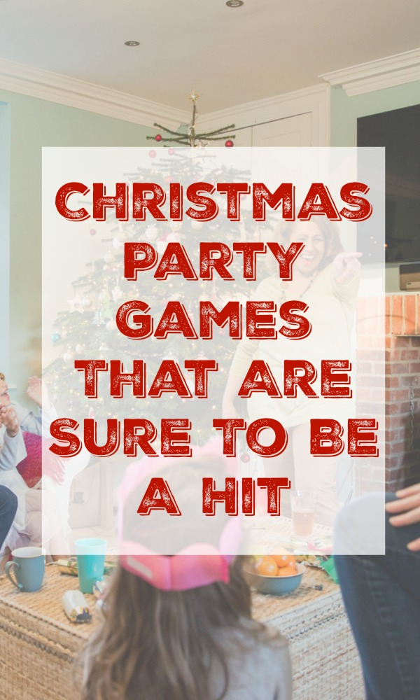 These Christmas Party Games are sure to be a giant hit. All of them are family friendly games, but some do require reading.  Includes several free printables. #Christmas #Party #Games