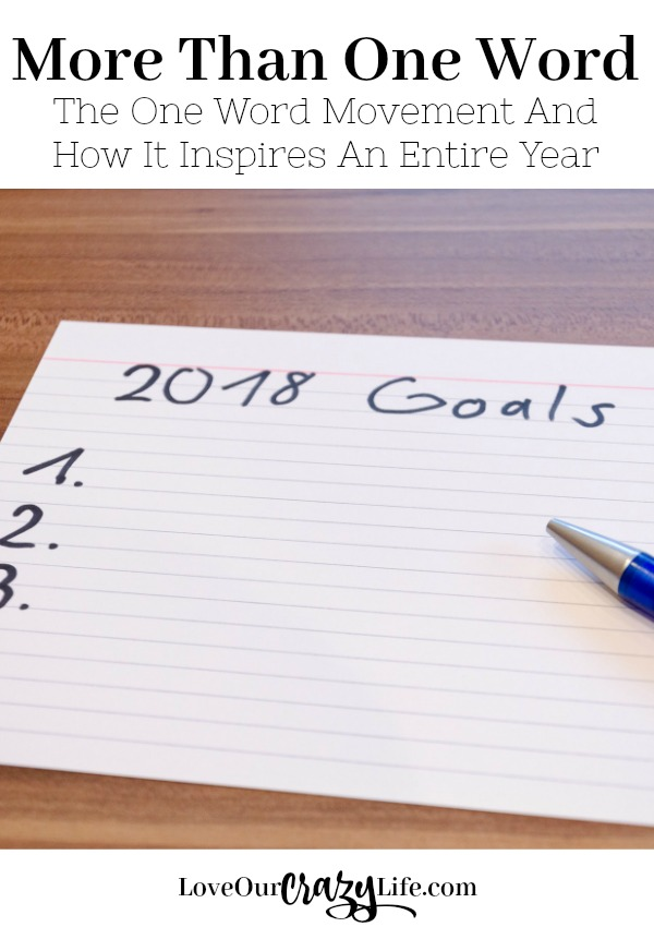 New Years Resolutions are changing. How to choose one word to drive your entire year and why it is more than one word. Great example of choosing a word that covers so many different goals.