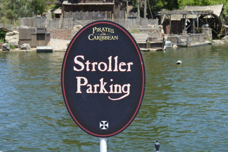 Stroller parking for Strollers At Disneyland