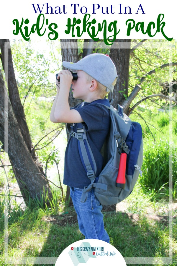 Looking to hit the trails? Check out this hiking pack for kids. It has just enough stuff for beginners or those hiking with parents. Perfect for camping as well. #hiking #camping #summer #nature #kids