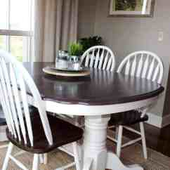 Painted Kitchen Chairs Wooden Clock Table Transformation Using Chalk Paint And Wood