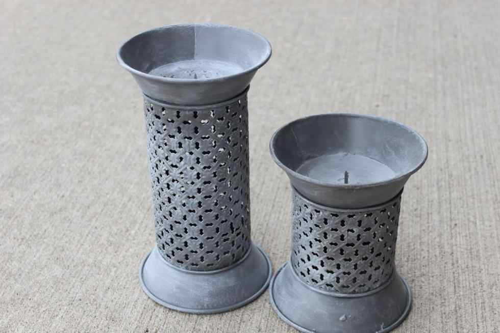 Painting candlesticks, candlestick makeover, chalk paint, spray paint