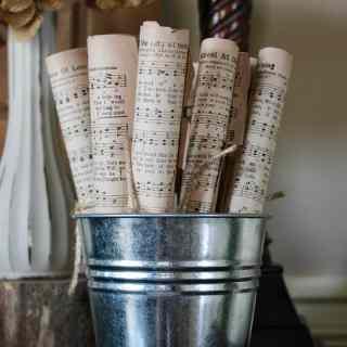 Vintage Music, vintage music sheets, vintage music decor, music sheets in decor