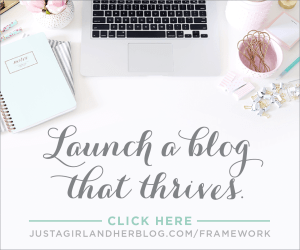 Building a Framework, Abby Lawson, Just a Girl and Her Blog, How to launch a blog