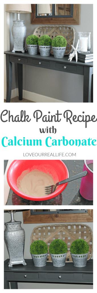 Chalk paint recipe, calcium carbonate chalk paint, urbane bronze