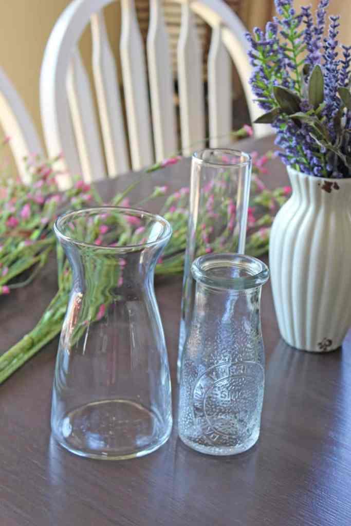 Faux flower arrangements, artificial flower arrangements, faux flowers, glass vase for flower arrangement