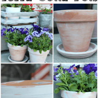 Easy Tutorial for White Washed Terra Cotta Pots