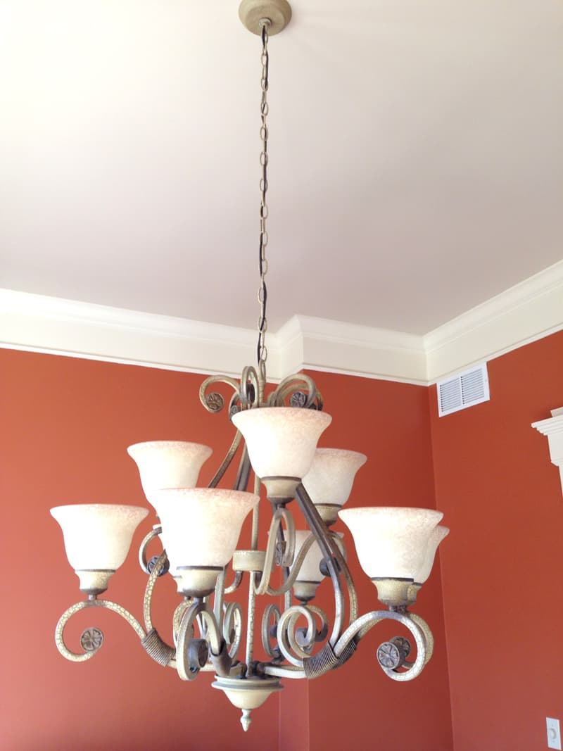 Painting a dining room ceiling, painting dining room ceiling navy blue