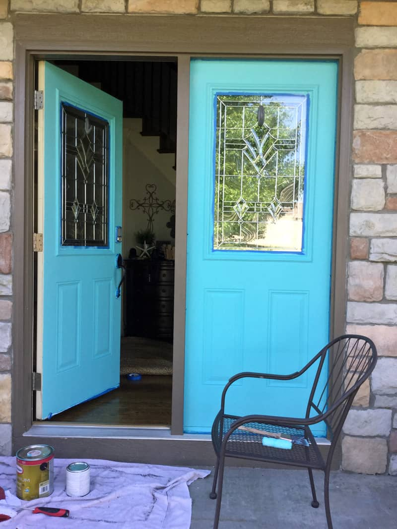 Repainting a front door