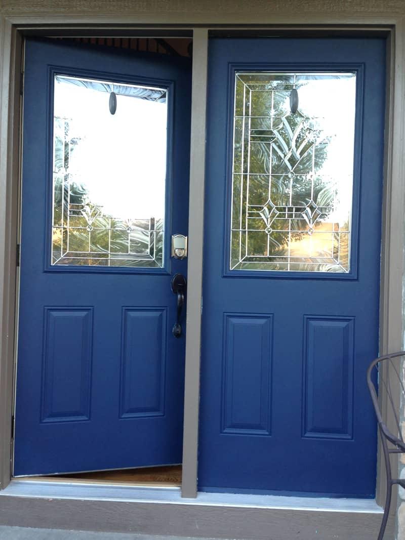 Repainting front door, Naval Sherwin Williams