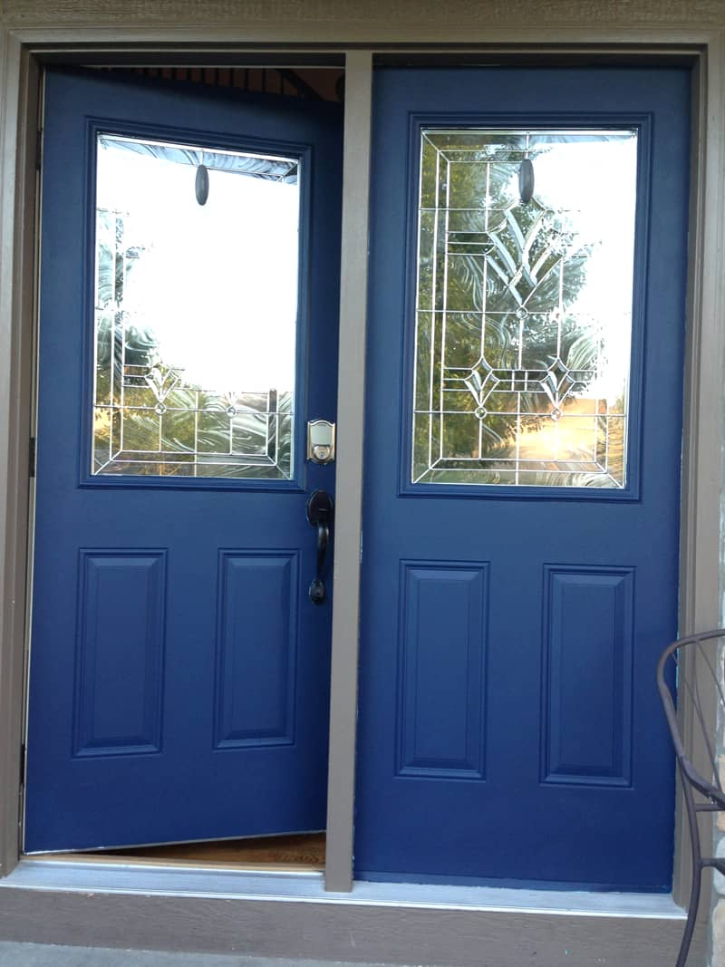 Repainting front door, Naval Sherwin Williams