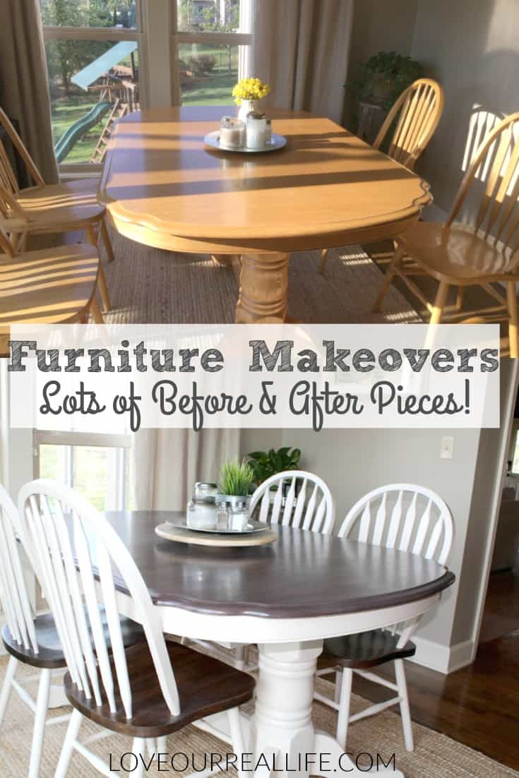 Furniture Makeover, Before and After pictures of furniture makeovers