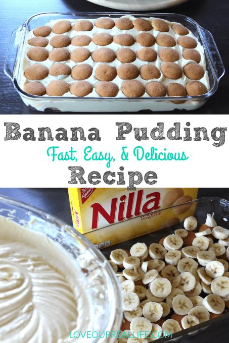 Banana Pudding, Easy dessert, dessert, Paula Deen's banana pudding,