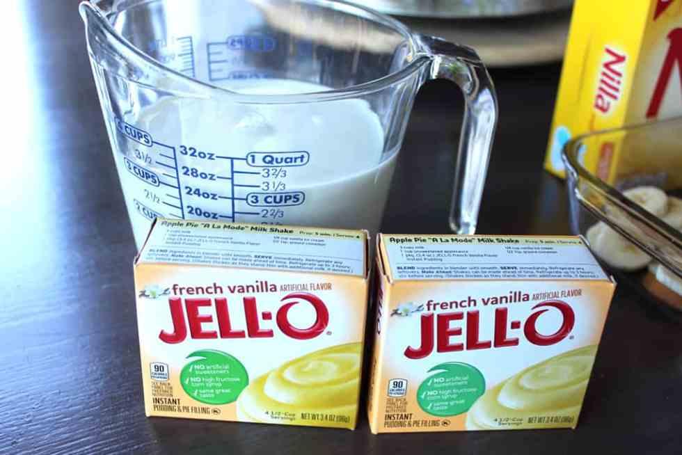 Banana pudding, Jell-O recipes, French Vanilla