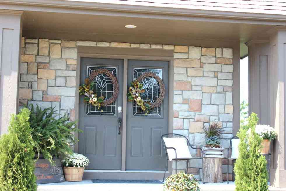 Fall front porch, fall porch decor, decorating for fall