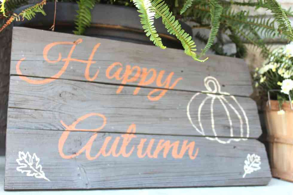 Fall wood sign, happy autumn outdoor wood sign, fall porch decor