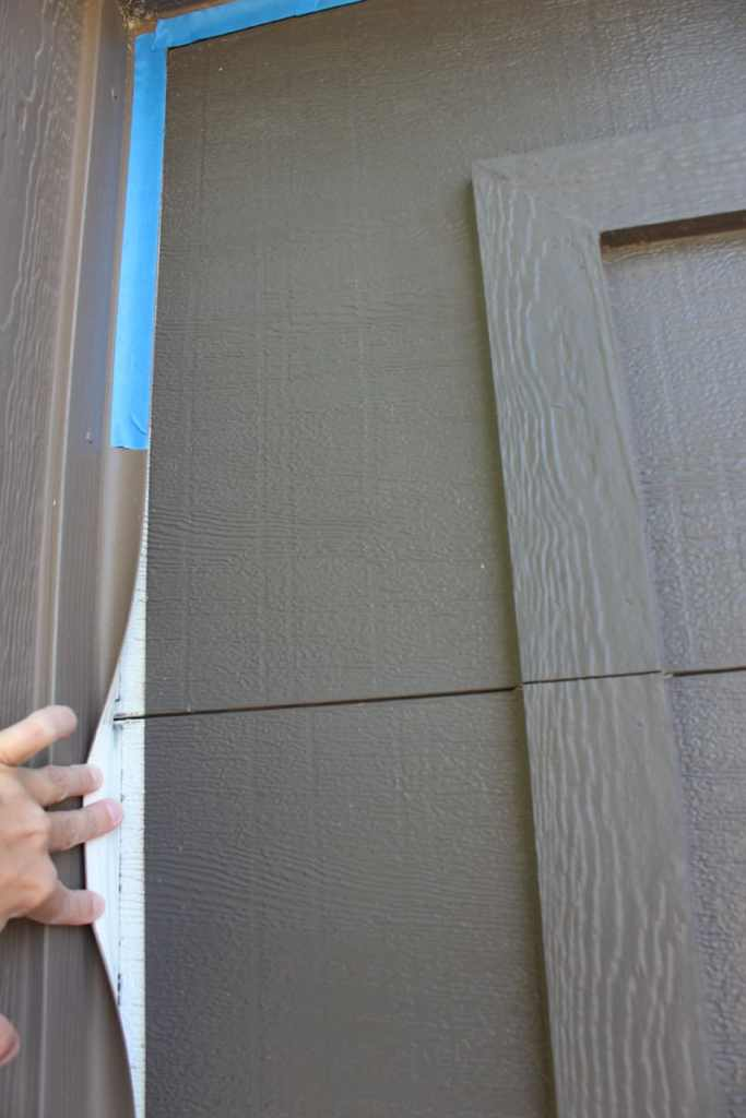 What you do not need to tape when painting a garage door, tips for painting a garage door