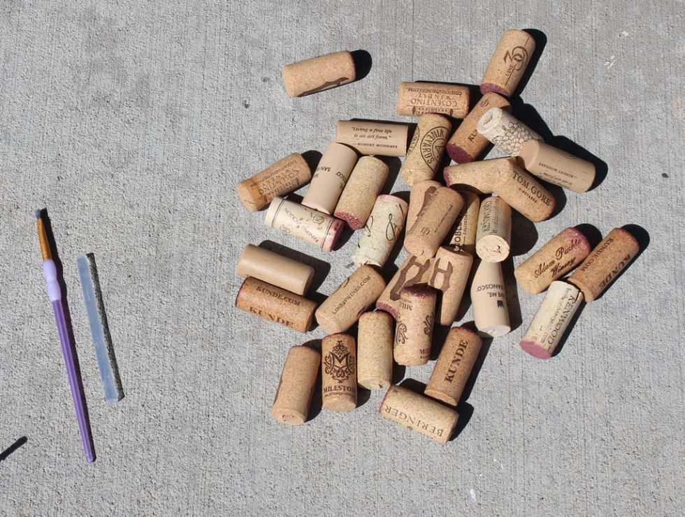 Pumpkin Wine cork, wine cork crafts, fall crafts
