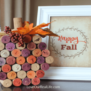 Wine Cork Pumpkin // Make Your Own with This Easy Tutorial