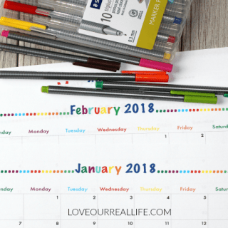 2018 Free Printable Monthly Calendars and My New Bullet Journal