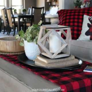DIY Buffalo Plaid Table Runner