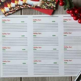 Free Printable Christmas Gift Tracking List