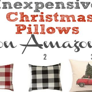 Inexpensive Christmas Pillows on Amazon