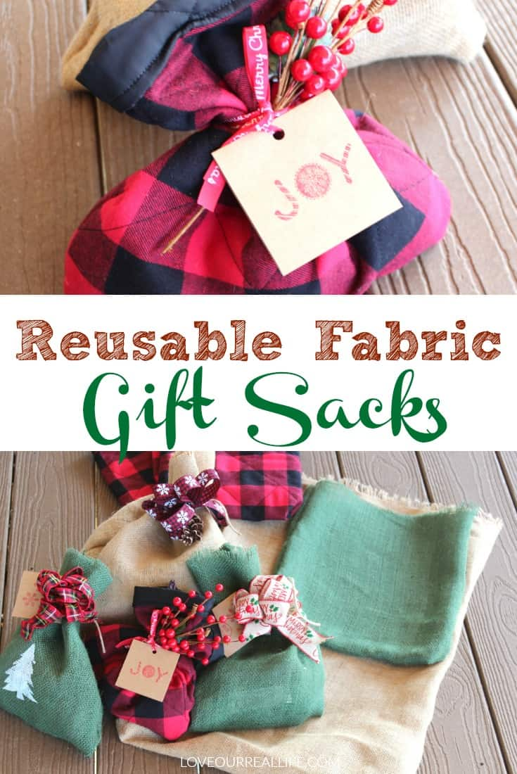 Step by step tutorial for making reusable fabric gift sacks for all occasions!