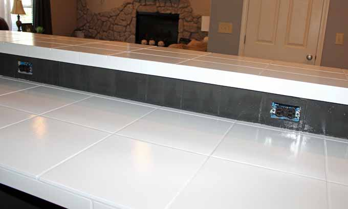 how to paint tile countertops before