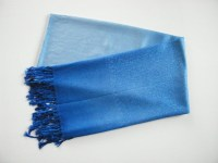Pashmina Two Tone Shawls - Electric blue Two Tone Pashmina ...