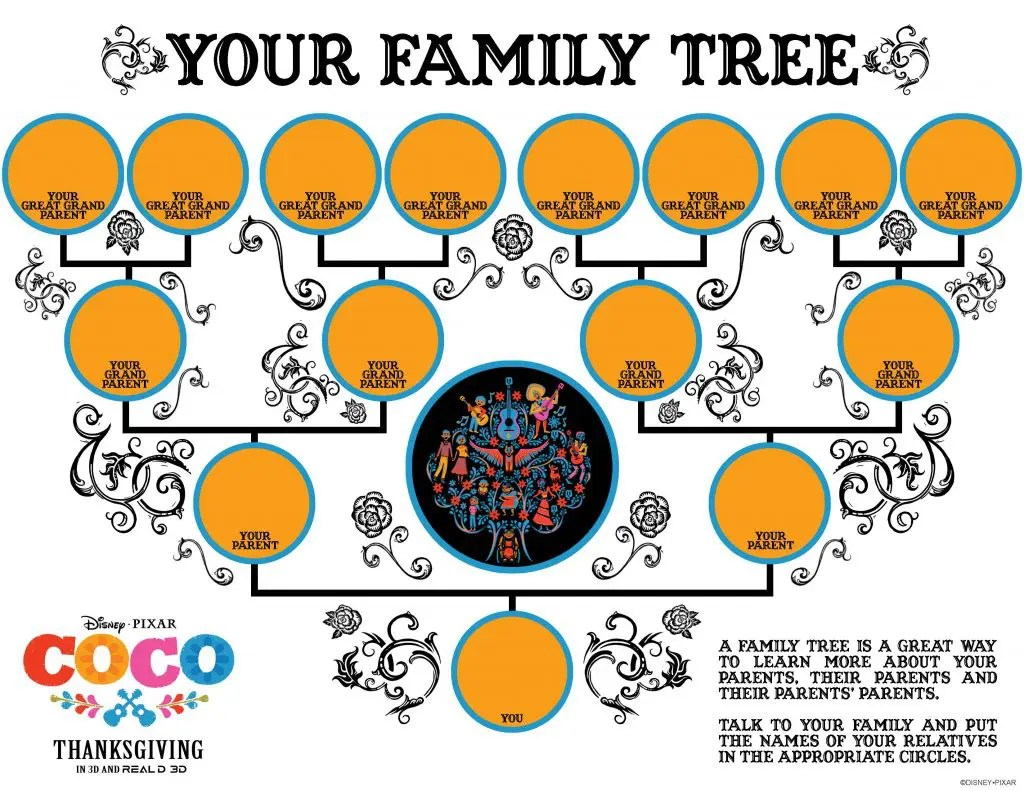 Free Disney Family Tree Template For Kids