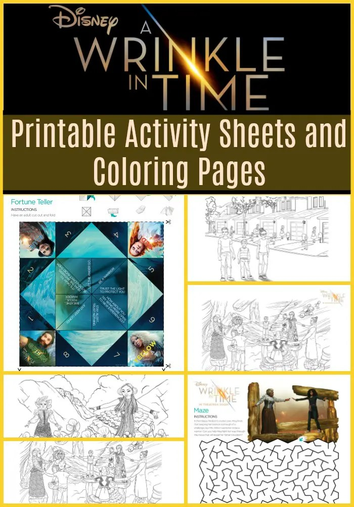 Disneys A Wrinkle In Time Activity Sheets And Coloring