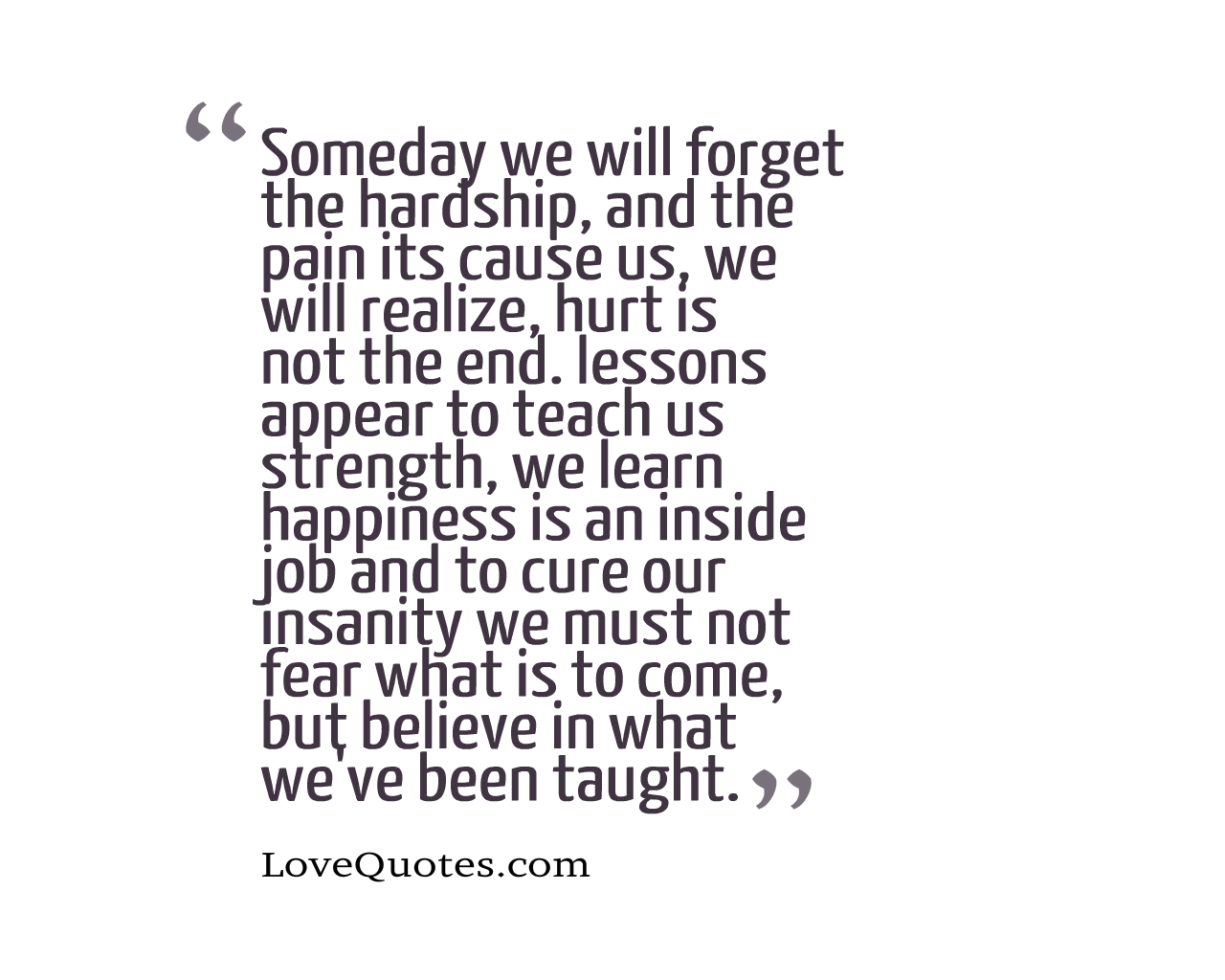 Hurt Is Not The End