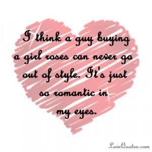 It's Just So Romantic