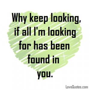 Why Keep Looking