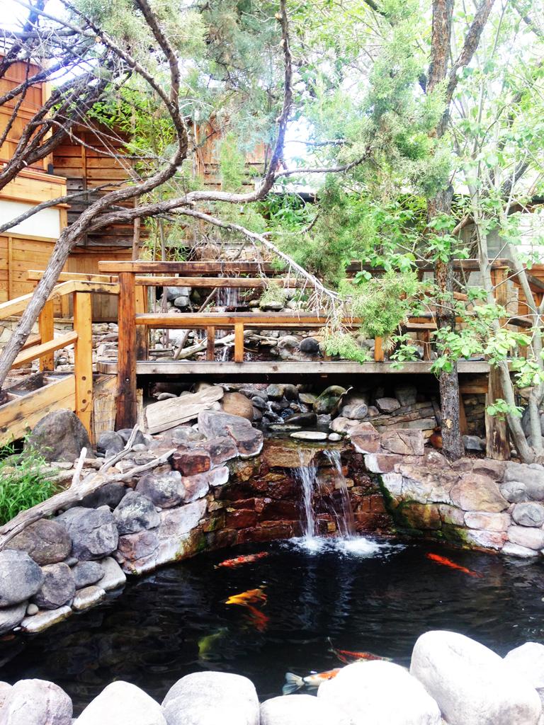A girlfriends getaway in santa fe for Koi pool and sauna