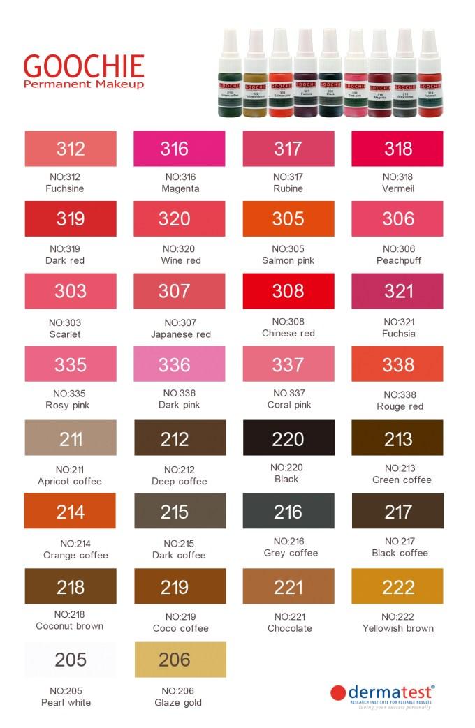 Tattoo Ink Colors Chart Siteandsite