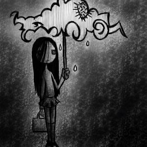 Lonely Girl Wallpaper With Quotes Raining Best Sad Pictures Sad Images Lover Of Sadness