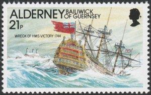 hms victory stamp