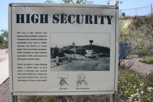 High Security sign