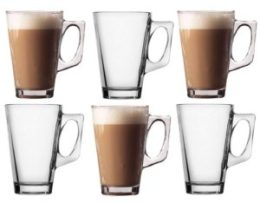 six latte glasses