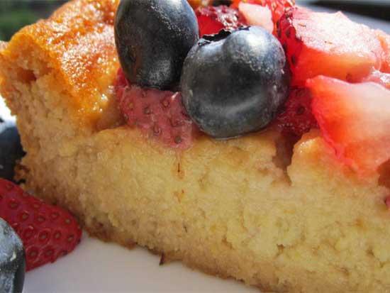 Gluten Free Sweet Berry Corncake