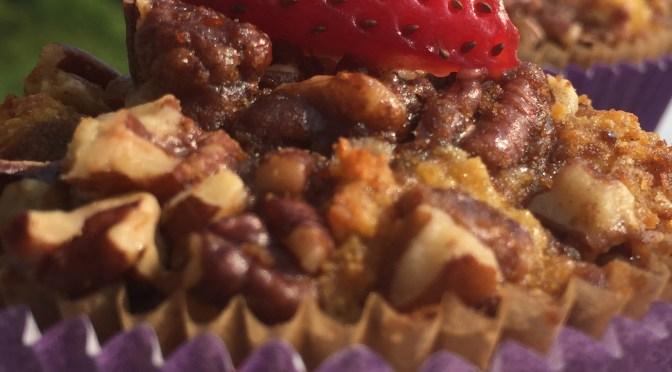 paleo strawberry rhubarb muffins