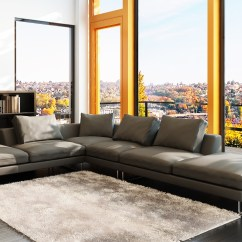 Nova Black And White Leather Corner Sofa Right Hand Transitional Style Sofas Dark Grey Couch Amazing Deluxe Home Design