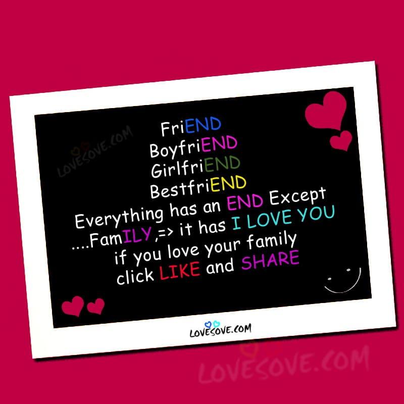 friend family love card