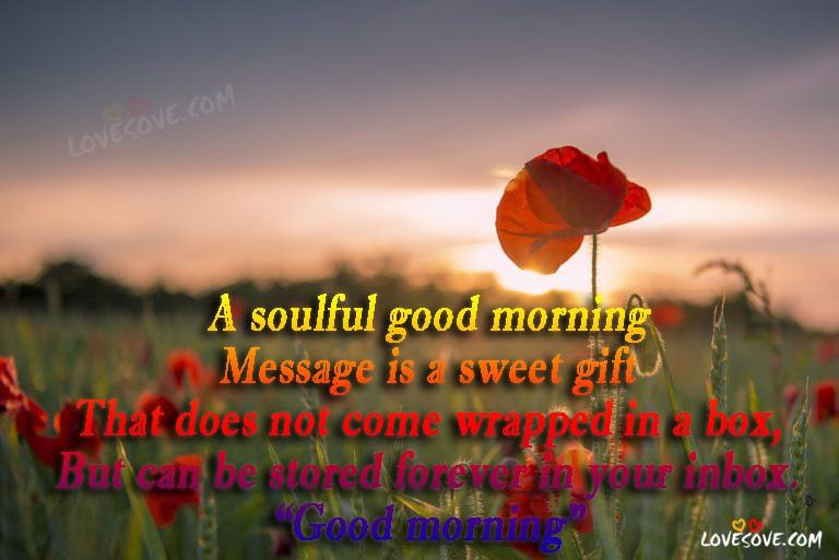 a soulful good morning